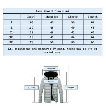 2016 New Fashion Men's Winter Warm Hooded Light Weight Down Jacket Coat (Black) - intl - 3