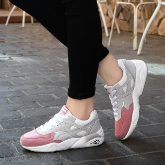 2016 New Women Sneakers Breathable Mesh Light Running Shoes (Pink) - intl
