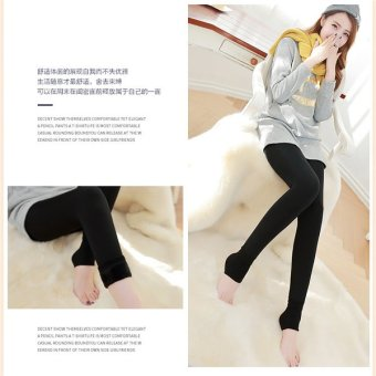 2016 Winter Women Warm Leggings Elastic High Waist Plus VelvetJeggings Faux Thick Slim Stretch 8 ColorsTrousers Female - intl -intl - 3