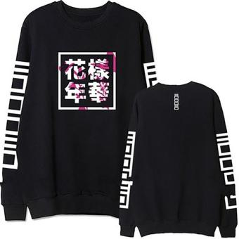 2017 Fashion Bangtan Boys Kpop BTS Women Hoodies Sweatshirts Black - intl