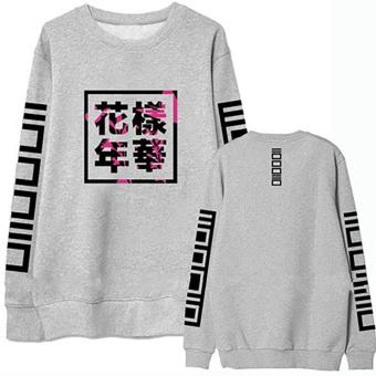 2017 Fashion Bangtan Boys Kpop BTS Women Hoodies Sweatshirts Grey - intl