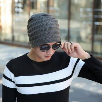 2017 Fashion Bonnet Gorros Caps For Men Women Thick Winter BeanieMen Knitted Hat Warm Skullies & Beanies 2017 new free sipping -intl - 3