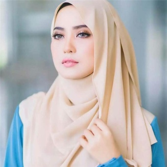 2017 Fashion New Design High Quality Chiffon Muslim Hijab Headscarf Veil Hijab Breathable Ventilation Comfortable and Beautiful - intl