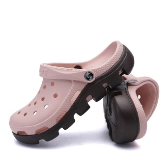 2017 Fashion Outdoor Beach Footwear Man Summer Casual Water ShoesHommes Sandales Hollow Jelly Croc Women Mule Clogs Massage SlipperFor Couples Plus Size 45 46 47 - intl - 4