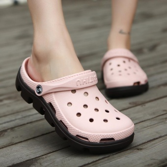 2017 Fashion Outdoor Beach Footwear Man Summer Casual Water ShoesHommes Sandales Hollow Jelly Croc Women Mule Clogs Massage SlipperFor Couples Plus Size 45 46 47 - intl - 5