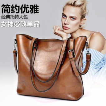2017 Fashion women leather Top-handle bag Shoulder Handbags-Brown Price Philippines
