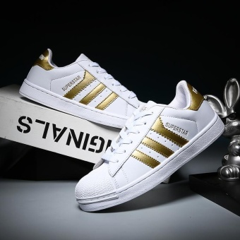 2017 Men and Women Fashion Adidas Casual Sports Shoes-White andGold - intl Price Philippines