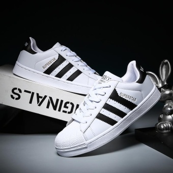 2017 Men and Women Fashion Casual Sports Shoes-White and Black - intl Price Philippines