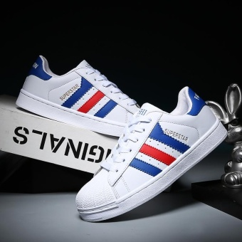 2017 Men and Women Fashion Casual Sports Shoes-White and Blue -intl Price Philippines