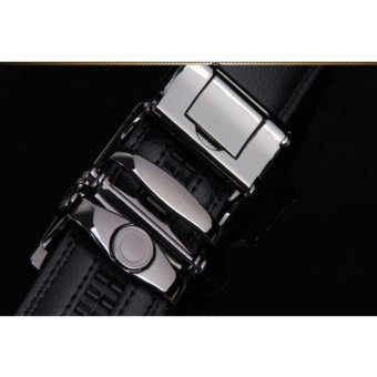 2017 Men's automatic belt buckle belt PU microfiber fashionbusiness - intl - 2