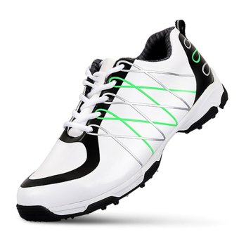 2017 Men's Golf Shoe Microfiber Leather Anti Skid Sports SneakersWaterproof Breathable High-quality - intl - 2