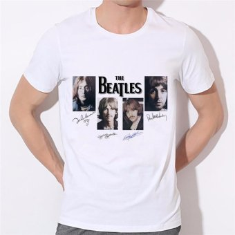 2017 New Arrival Doctor Road the Beatles T Shirt Men Casual PrintedT-shirt Tops Factory Direct Sale Can Be Customized 19-11# DiyT-shirt for Men White - intl Price Philippines