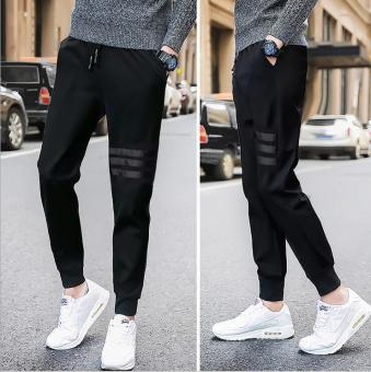 2017 New Fashion Autumn Men Pants Hoody Pants Casual Joggers Plus Size - intl