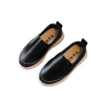 2017 New Fashion Loafers For Boys&Girls Slip-Ons SneakersChildren's Leather Shoes Size 21-36 Black - intl