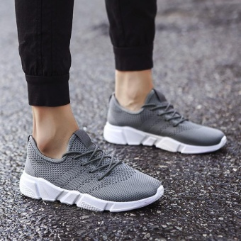 2017 New Fashion Outdoor Sport Shoes for Man Lower Cut Fly Weave Breathable Leisure Shoes (grey) - intl - 5