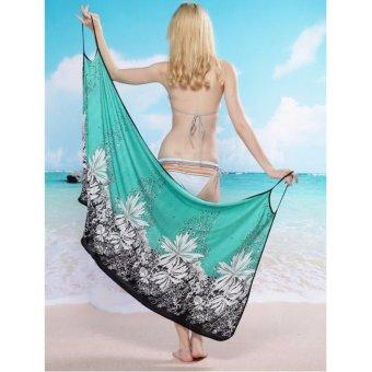 2017 New Hot Women Beach Dress Sexy Sling Beach Wear Dress SarongBikini Cover-ups Wrap Pareo Skirts Towel Open-Back Swimwear AS001 -intl - 4