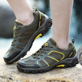2017 New Women's Profession Hiking Shoes Breathable Anti-Skidding Outdoor Sport Shoes-Army Green - intl
