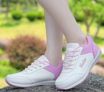 2017 spring new casual shoes flat fashion sneakers for girls -white- intl