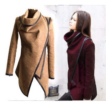 2017 Women New Fashion Autumn Winter Wool Coats Jackets Lady Slim Fit Warm Trench Coat Outwear Parka Overcoat-Khaki - intl