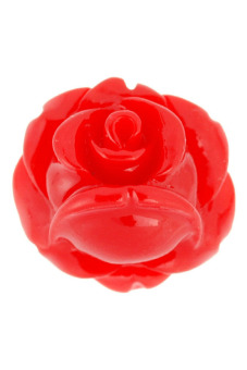 20pcs Resin Cabochons Flatback Love Flower Rose Cameo 10x10x6mm Red