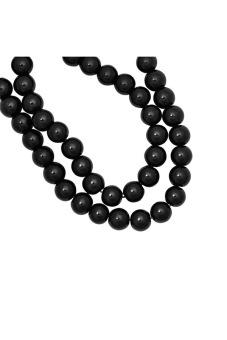 230pcs Round Glass Pearl Spacer Beads 3x3x3mm Mystic Black