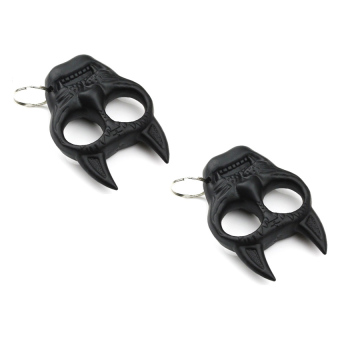 2pcs Evil Cat Self Defense Knuckle Keychain #0116