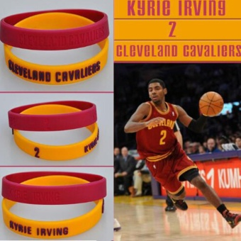 2PCS Wristband Basketball Star Bracelet NBA Star Rubber Band KyrieIrving - intl Price Philippines
