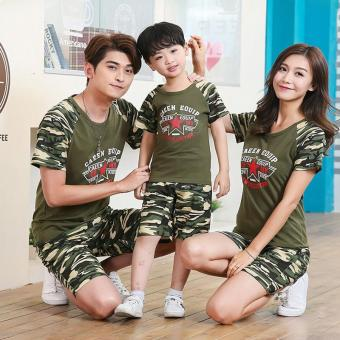 2PCS/Set Cotton Family Matching Clothes Parent Kid CamouflageOutfits(Dad)-intl
