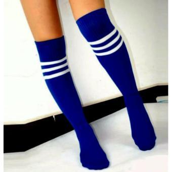 3 Pairs Men Ladies Stripe Soccer Football Running Knee High TubeSocks Sports Stockings 128g - 4