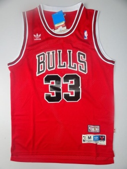 #33 Chicago Bulls NBA SCOTTIE PIPPEN Basketball Jersey Newest HighQuality Big Size ( Red ) - intl Price Philippines
