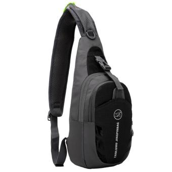360DSC Tanluhu 821 Unisex Water Resistant Nylon Outdoor TravelSport Shoulder Cross Sling Bag Chest Bag Pack - Black Price Philippines