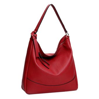 360DSC Womens Soft PU Leather Tote Handbag Slouchy Hobo ShoulderBag - Wine Red Price Philippines