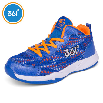 361 autumn and winter New style genuine shoes children's shoes (Sapphire Blue/flourescent Ju Hong)