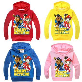 'Paw Patrol 3-10 Years Old 95-135cm Hight Boy or Girls'' Long-sleeved Cardigan Sweaters(Color:Red)' - 3