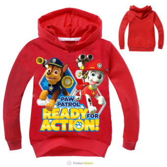 'Paw Patrol 3-10 Years Old 95-135cm Hight Boy or Girls'' Long-sleeved Cardigan Sweaters(Color:Red)'