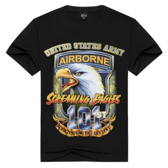 3D Men's Pure Cotton T-Shirt ( Eagle 101 Printing) - intl