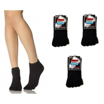 3pairs Five Toe Cotton Socks Pure Sports Trainer Running FingerSocks Breathable for Men and Women Size 24-28 110g Price Philippines