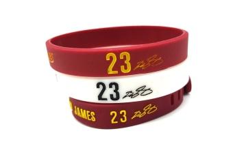 3pcs Lebron James Sports Silicone Bracelets Pro Adjustable Basketball Bracelets Baller Bands Sports Wristband - intl - 2