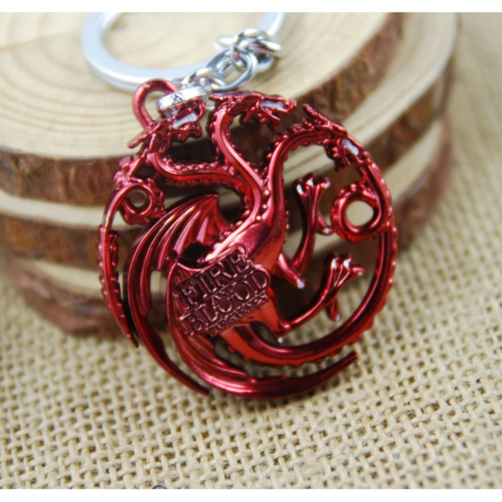 3pcs Movie Series Key Chain Game of Thrones Family Badge Keyring Keychain for .