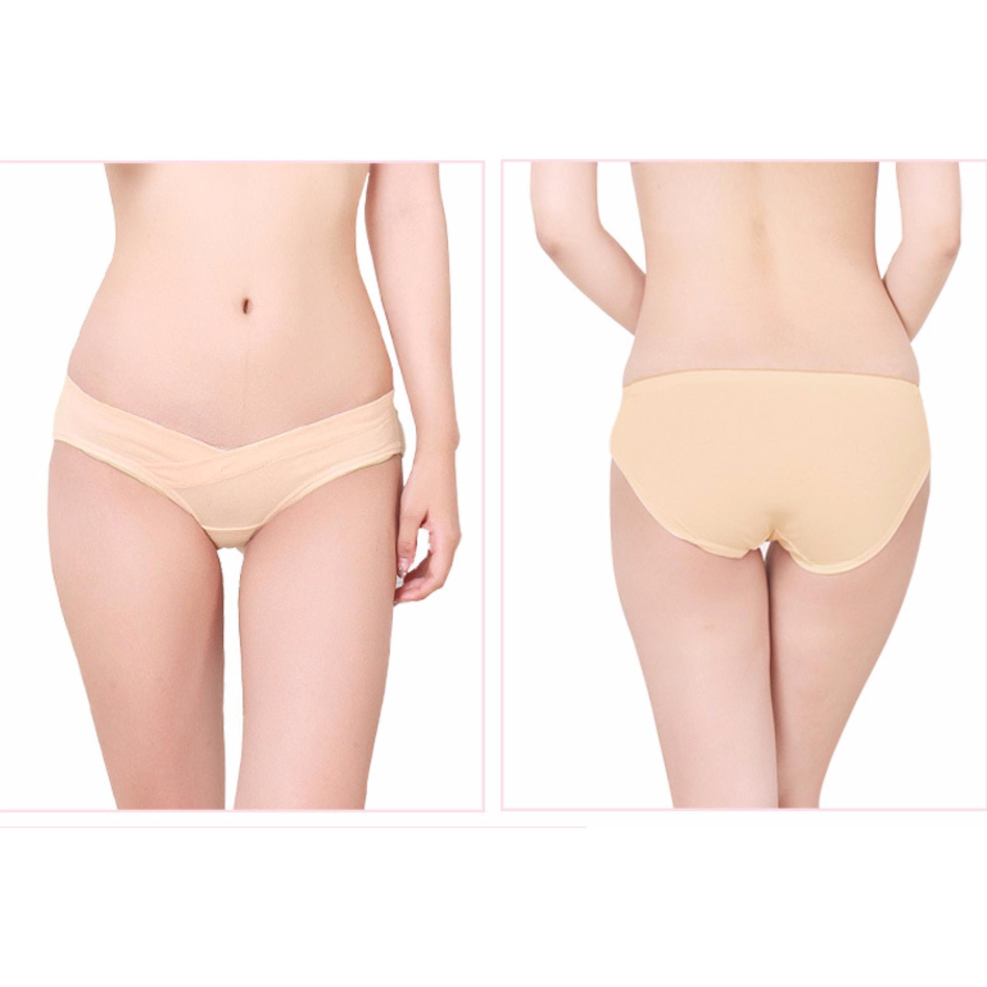 ... 3Pcs Pregnancy Maternity Underwear Pregnant Panties WomenUnder the Bump Maternity Underwear(skin color) ...