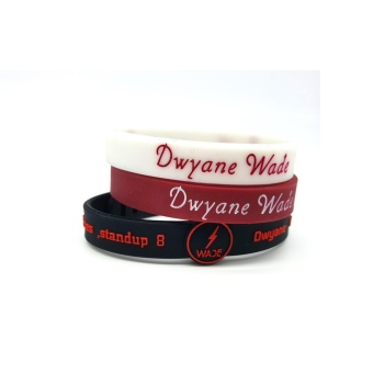 3pcs SportsBraceletsPro Adjustable Team Bracelets Kid to Adult SizeDwyane Wade - intl