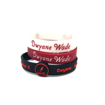 3pcs SportsBraceletsPro Adjustable Team Bracelets Kid to Adult SizeDwyane Wade - intl - 2