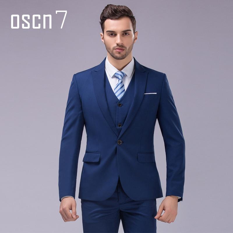 Philippines | 3pcs Suit Men Slim Fit Notch Lapel Business Mens Suit ...