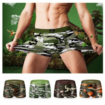 4PCS Men's Army Boxer Underwear Camouflage Shorts - intl