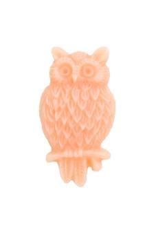4pcs Resin Owl Vintage Style Animal Cabochon 25.5x14x5mm Peach