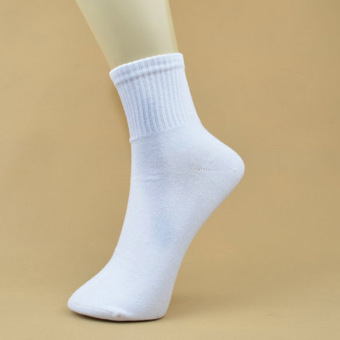 5 Pair Men Ankle Socks Men's Cotton Low Cut Athletic Socks One Size white