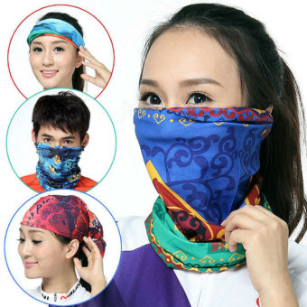 5 pcs a set Women Men Sports Cycling Veil Head Scarf Bike BicycleRiding Variety Turban Magic Headband Scarves Face Mesh BandanasMask - 3