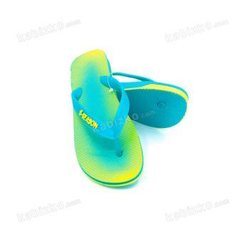 5-Season Kids Flip Flops Thick Sole Rubber Slippers 2708 (Green) - 2