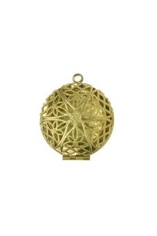 5pcs Hot Raw Brass Round Pendants Photo Locket Jewelry Findings