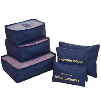 6-In-1 Secret Pouch Multipurpose Travel Organizer Dark Blue